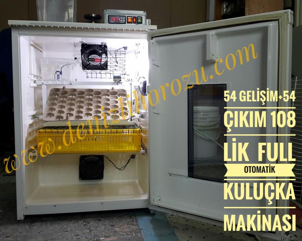 54 Gelişim + 54 Çıkım 108 lik Full Otomatik Kuluçka Makinesi 12