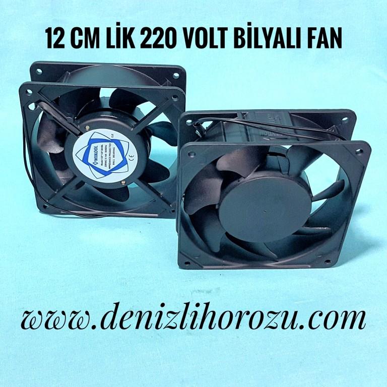 12 cm Bilyalı Kare Fan 220 volt  18