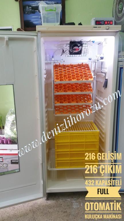 Full Otamatik 216 Gelişim + 216 Çıkım 432 kapasiteli Kuluçka Makinesi  05